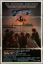 SUPERMAN II MOVIE POSTER Original Folded 27x41 CHRISTOPHER REEVE 1981 One Sheet