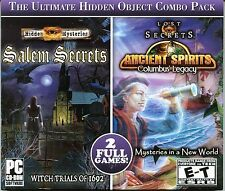 Hidden Mysteries SALEM SECRETS WITCH TRIALS Hidden Object  2 PACK PC Game NEW