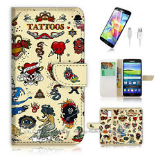 Samsung Galaxy S5 Flip Phone Case Cover PB10771 Tattoo