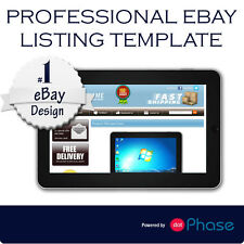 Ebay Listing Template design compatible with inkfrog, auctiva red theme