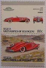 1936 MERCEDES BENZ 540K Car Stamps (Leaders of the World / Auto 100)
