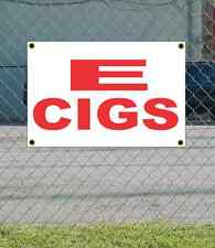 2x3 E CIGS Red & White Banner Sign NEW Discount Size & Price FREE SHIP