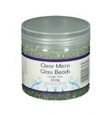 Creative Expressions CLEAR MICRO GLASS BEADS LARGE 300g As seen on TV