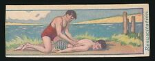 1922 V16 Cowan's Chocolates -LEARN TO SWIM #22 Resuscitation *Tough Type*