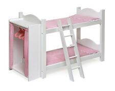 BUNK BED SET w/ LADDER, BEDDING, BUILT IN ARMOIRE FOR AMERICAN GIRL DOLL- NEW!