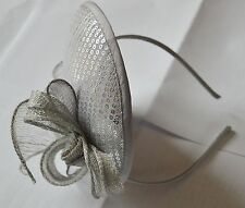 NEW Silver grey sequin hatinator on aliceband fascinator wedding races prom