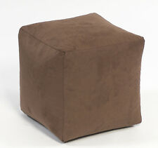 Beanbag cube ready filled bean bag in Faux Suede Made in The UK