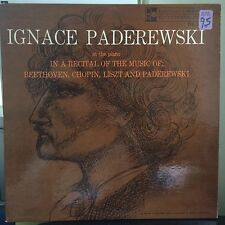Ignace Paderewski At The Piano In A recital Of The Music Of; Beethoven DR-101 LP