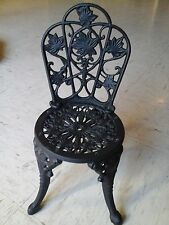 Vintage Cast Iron Doll Chair Ornate Just Assembled 1970's Girls  Decorative