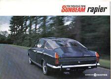 Sunbeam Rapier Arrow 1725cc Fastback 1967-69 Original UK Sales Brochure 5516/H