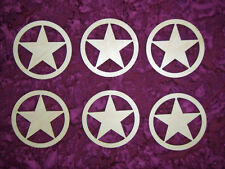 Texas Star Shape Wood cut out Unfinished Wooden Craft Shapes 6 Pieces