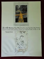 RARE ORIGINAL 1978 HAND SIGNED JAVACHEFF CHRISTO KANSAS CITY EXHIBITION POSTER