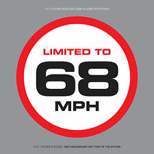 SKU1118 - LIMITED TO 68 MPH Vehicle Speed Restriction Sticker Vinyl Car Van 80mm