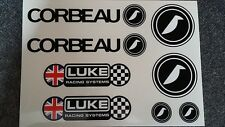 Corbeau Seats / LUKE Harness Sticker Pack