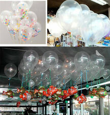 10pcs Lots Clear Round Latex Balloons Party Wedding Birthday Decor 10inch Gift