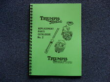 TRIUMPH TERRIER AND TIGER CUB PARTS BOOK  NO2 FOR 1954 MODELS