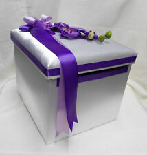 Wedding Reception Orchid Gift Card Money Box Purple Lavender Your Colors