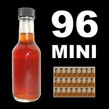 SHOOTERS!! MINI LIQUOR BOTTLES CASE OF 96 MINIATURE WHISKEY SAMPLE BOTTLE w/CAPS