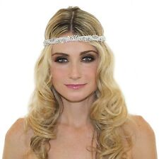 BRAIDED 1920'S GREAT GATSBY INSPIRED CRYSTAL CHAIN HEADPIECE HEADBAND