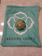 Kendra Scott Poppy Dome Chalcedony Green Statement Cocktail Ring Rare HTF