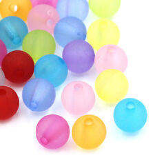 """2000PCs Acrylic Spacer Beads Frosted Round Ball Mixed 6mm(2/8"""")Dia."""