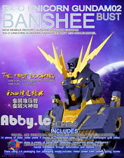 Seraph Hobby 1/35 RX-0 Unicorn Banshee Gundam Bust Plastic Model Kit + LED Decal