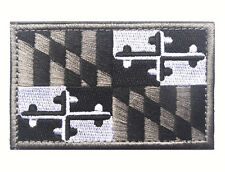 Maryland STATE FLAG USA ARMY MORALE TACTICAL MILITARY BADGE VELCRO PATCH  sh 456
