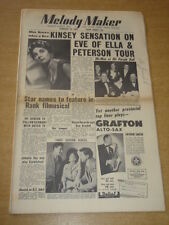 MELODY MAKER 1955 FEBRUARY 19 TONY KINSEY ELLA FITZGERALDN OSCAR PETERSON +