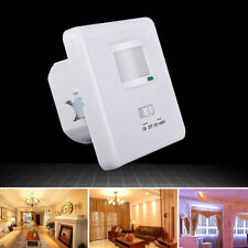 Motion Sensor Light Switch PIR Wall Detector Infrared Occupancy 100V-240V White