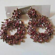 J.Crew CRYSTAL WREATH EARRINGS ~*Pink*~ e8912 ~*~Sold Out ~*~ NWT
