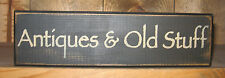 PRIMITIVE  COUNTRY  ANTIQUES & OLD STUFF  SHELF SIGN
