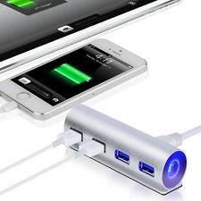 5Gbps High-Speed 4 Anschlüsse USB 3.0 HUB Alu Adapter Verbindung für PC Laptop
