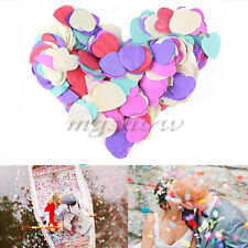 1000 Pcs Colorful Love Heart Biodegradable Confetti Table Wedding Party Decor