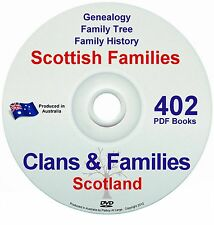 Family History Tree Genealogy Scotland Clans Old Historic Books Records New DVD