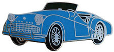 Triumph TR3A/B car cut out lapel pin - Light Blue