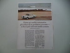 advertising Pubblicità 1967 MERCEDES BENZ 250 S