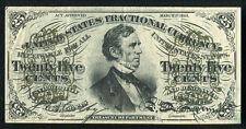25 Twenty Five Cents Third Issue Fractional Currency Note Extremely Fine