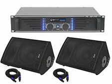 """QTX QT10M Passive Stage Wedge Monitor Foldback 1"""" Band PA System Speaker Package"""
