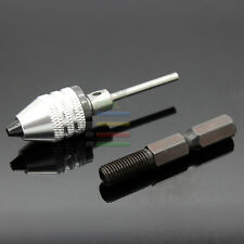 0.3-4mm Mini Electric Grinder Keyless Drill Chucks + 2.3mm&Hex Shank for Dremel