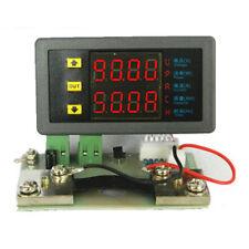 DC 10V-90V 0-50A Dual Digital Led Voltmeter Ammeter  Amp Power Meter + Shunt