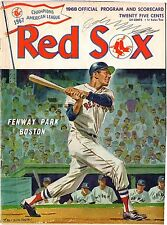 Mickey Mantle Last Game 1968  Program New York Yankees Vs Boston Red Sox Ex