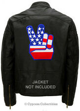 USA V for VICTORY BIKER PATCH - EASY RIDER FLAG new LARGE EMBROIDERED back-size