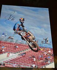 DEAN WILSON #15 SIGNED 11x14 ACTION PHOTO- COA - SUPERCROSS - MID AIR
