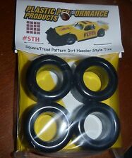 NASCAR 1/25 SQUARE TREAD HOOSIER DIRT TIRES SET STOCK CAR MODEL PPP STH