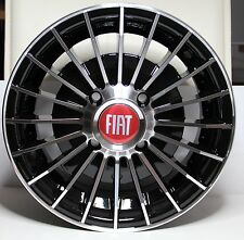 CLASSIC FIAT 500 126 SET OF 4 ALUMINIUM WHEELS MILLERIGHE DESIGN BLACK