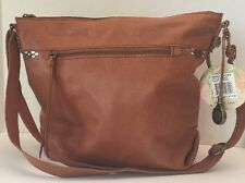 NEW THE SAK SIERRA LEATHER COGNAC HANDBAG TOTE SHOULDER BAG-NWT $179