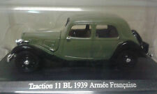 CITROEN TRACTION 11 BL  1939 ARMEE FRANCAISE TRACTION COLLECT ATLAS 1/43