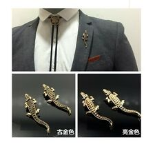 CROCODILE COLLAR LAPEL PIN BROOCHES MASQUERADE PROM PARTY BALL CHRISTMAS GUMBO
