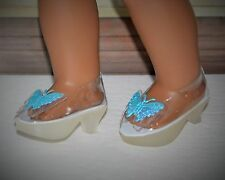 """Doll Heels Shoes For 18"""" American Girl Doll Clear with Butterfly Accessories"""
