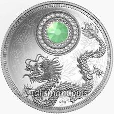 Canada 2016 Dragon Birthstone October Opal $5 Silver Proof w Swarovski Crystal
